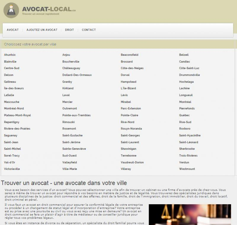 Avocat Local : trouver un avocat dans votre ville