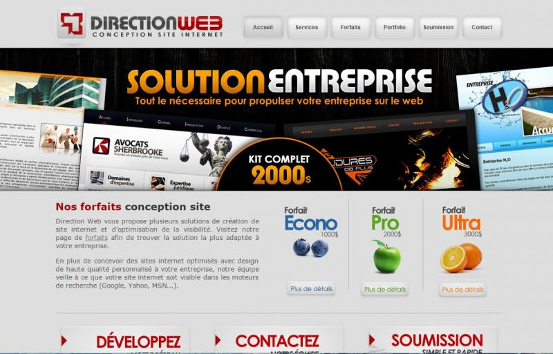 Direction Web : conception site internet forfaits avec prix