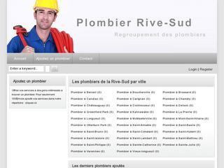 Plombier Rive-Sud